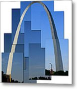 Collage Of St Louis Arch Metal Print