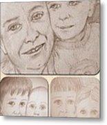 Collage Portraits Metal Print