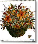 Collage With Wild Flowers Metal Print