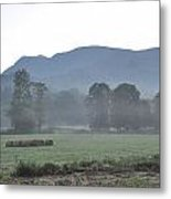 Collecting The Hay Metal Print