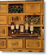 Collection Of Wines And Armagnac Metal Print