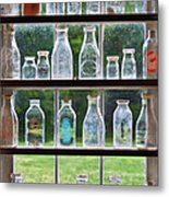 Collector - Bottles - Milk Bottles  Metal Print