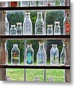 Collector - Bottles - Milk Bottles  Metal Print by Mike Savad