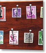 Collector - Stamp Collector - My Stamp Collection Metal Print