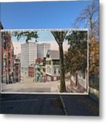 College Street To Market Square In Providence Ri Metal Print