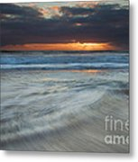 Colliding Tides Metal Print by Mike  Dawson