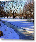 Collins Creek In Winter Metal Print