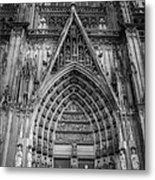 Cologne Cathedral 11 Bw Metal Print