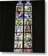 Cologne Cathedral Stained Glass Window Coronation Of The Virgin Metal Print