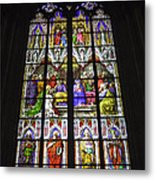 Cologne Cathedral Stained Glass Window Of Pentecost Metal Print