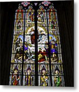 Cologne Cathedral Stained Glass Window Of St Paul Metal Print