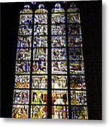 Cologne Cathedral Stained Glass Window Of St Peter And Tree Of Jesse Metal Print