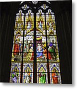 Cologne Cathedral Stained Glass Window Of The Adoration Of The Magi Metal Print