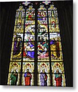 Cologne Cathedral Stained Glass Window Of The Lamentation Metal Print