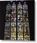 Cologne Cathedral Stained Glass Window Of The Nativity Metal Print