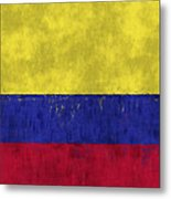 Colombia Flag Metal Print