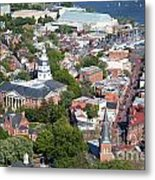 Colonial Annapolis Historic District And Maryland State House Metal Print