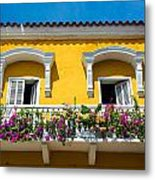 Colonial Balcony In Cartagena Metal Print