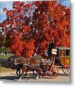 Carriage In Autumn Metal Print