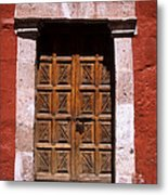 Colonial Door Arequipa Peru Metal Print