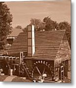 Colonial In Sepia Metal Print