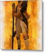 Colonial Soldier Photo Art  Metal Print