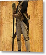 Colonial Soldier Metal Print by Thomas Woolworth