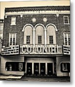 Colonial Theater In Phoenixville In Sepia Metal Print