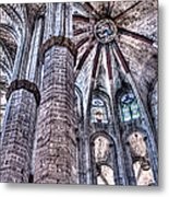 Colonnade And Stained Glass No2 Metal Print