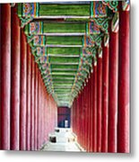 Colonnade In A Royal Palace Metal Print by George Oze
