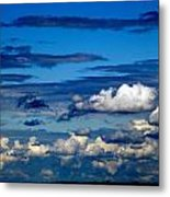 Color Burned Clouds Metal Print