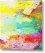 Color Burst Abstract Art  Metal Print