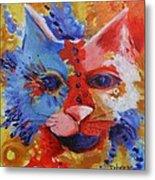 Color Cat Metal Print