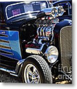 Color Chrome 1932 Black Ford Coupe Metal Print