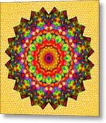 Color Circles Kaleidoscope Metal Print
