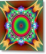 Color Cross Metal Print