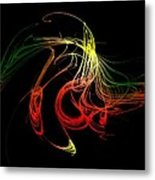 Color Design With Lines Metal Print by Mario Perez