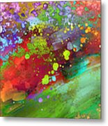 Color Explosion Abstract Art Metal Print by Ann Powell