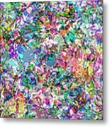 Color Filled Abstract Metal Print