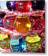 Color Fish Bowls Metal Print