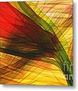 Color Flow Metal Print by Hilda Lechuga
