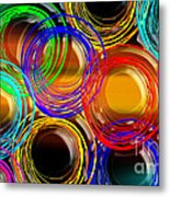 Color Frenzy 1 Metal Print by Andee Design