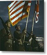 Color Guard Of African American Metal Print