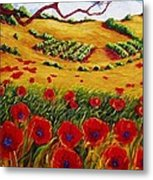 Color In The Vineyards Metal Print