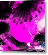Color Infared Glass Flowers Metal Print