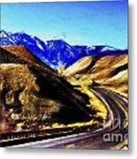 Color My Road Metal Print