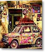 Color On The Road In Krakow- Poland Metal Print