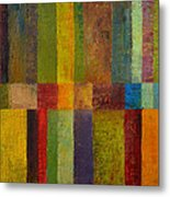 Color Panel Abstract Ll Metal Print by Michelle Calkins