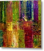 Color Panel Abstract Metal Print
