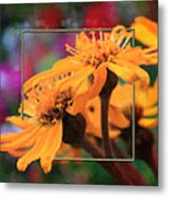 Color Pizzaz With Collaged Textures Metal Print